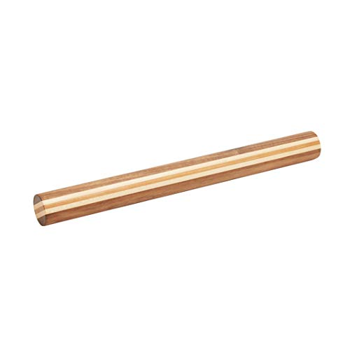 Pandapark Wooden French Rolling Pin for Baking, 15.7x1.5 Inches,Natural Wood (WALNUT ARTIST)