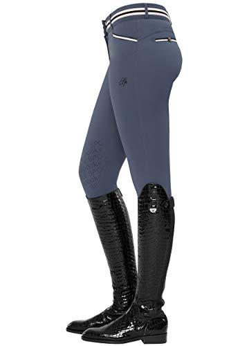 SPOOKS Damen Reithose Vollbesatz, leichte Damenreithose Reithosen Turnierreithose Vollbesatzreithose - Ina Light Knee Grip Blue xs