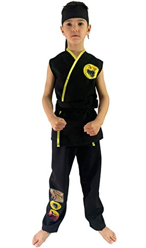 FIESTA Y CARNAVAL, SL Disfraz de Cobra Kai Karateca Infantil