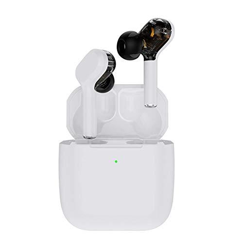 Auriculares inalámbricos Bluetooth 5.0, TWS estéreo, auriculares deportivos (blanco)