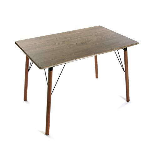 Versa 20880055 Mesa de Comedor Lansing, Madera y Metal, marron, 75 x 70 x 110 cm