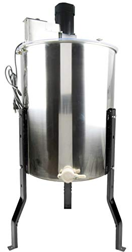VIVO Electric 4 Frame Stainless Steel Honey Extractor, Honeycomb Drum Spinner BEE-V004E
