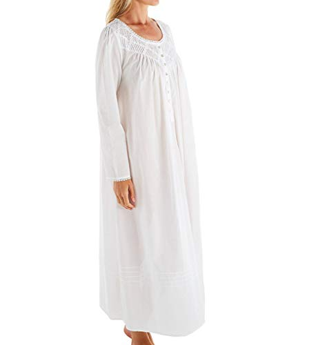 Eileen West Poetic Woven Nightgown, L, White