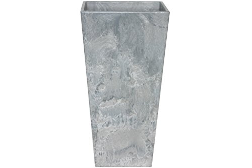 Artstone Vaso da Fiori, per Piante Ella, Resistente al Gelo e Leggero, Grigio, 40x90cm