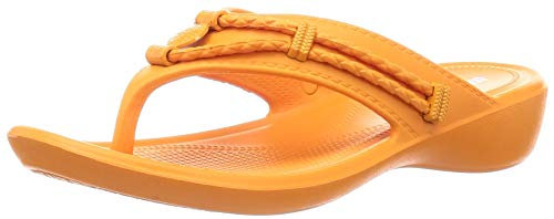 Minnetonka Women's, Silverthorne Prism Sandal Orange 11 M