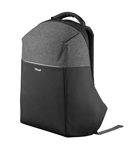 Trust Nox Anti-diebstahl Laptop Rucksack (14 bis 15,6 zoll Anti Theft Backpack) Schwarz/Grau