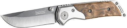 Semptec Urban Survival Technology Outdoor Messer: Keramik-Taschenmesser mit 7 cm Klinge, Edelstahl-Corpus, Holz-Griff (Taschenmesser mit Keramikklinge)
