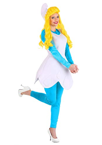 Smurfette Costume Adult The Smurfs Costume for Women Officially Licensed Medium Blue