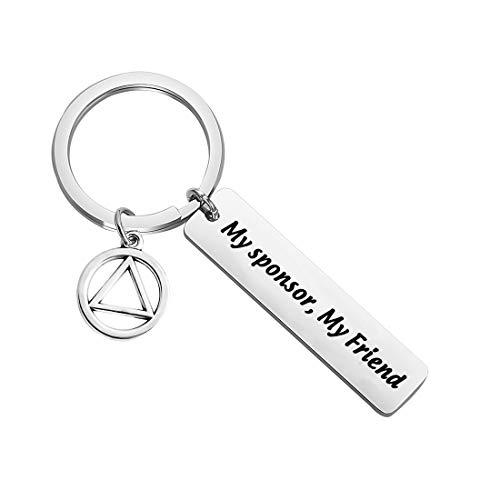 FOTAPP AA Gift Sober Recovery Jewelry My Sponsor My Friend Keychain...