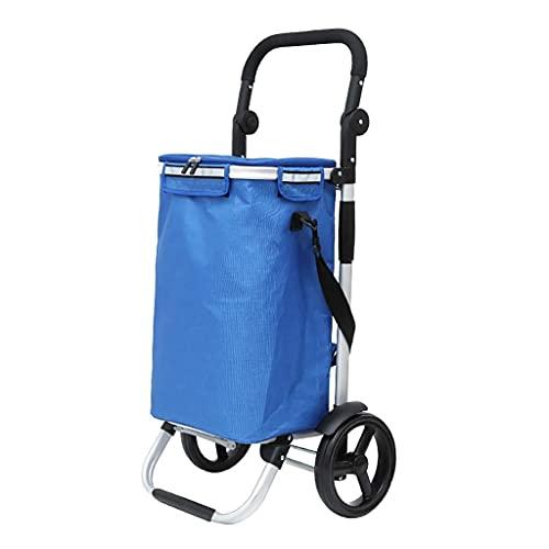 WYZXR Faltbarer Einkaufswagen Tragbarer Reiseanhänger Haushaltsgepäckwagen Einkaufswagen mit Aluminiumlegierungsrahmen Einkaufen (Farbe : B)