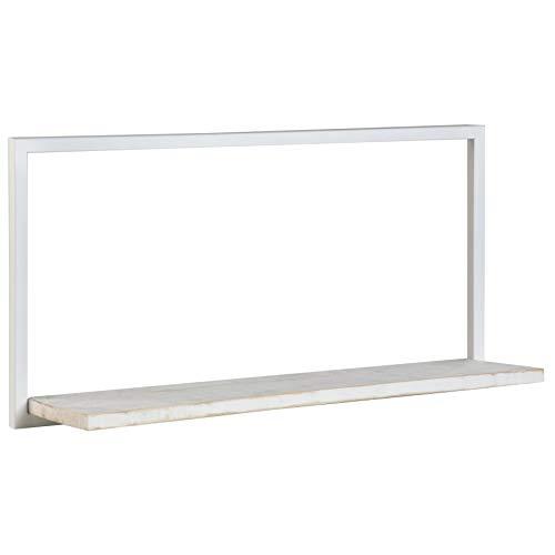 BANAK IMPORTA Nordic - Estantería de Metal 80 Blanco, Madera, 80 x 20 x 40 cm, Color Blanco