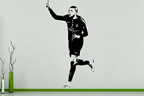 PSG Paris FC Saint Germain Fútbol Deportes Fútbol Estrella Jugador Kylian Mbappe Etiqueta de la pared Calcomanía de vinilo Niños Ventiladores Dormitorio Sala de estar Club Estudio Decoración para