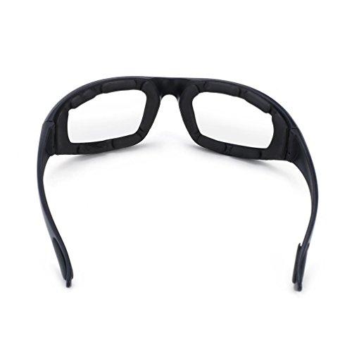 Motorradbrille Schutzbrille Fahrradbrille Radsportbrille Skibrille mit UV400 Outdoor Schutz für Damen und Herren Sonnenüberbrille Autofahren Laufen Radfahren Angeln transparent By Yxaomit - 7