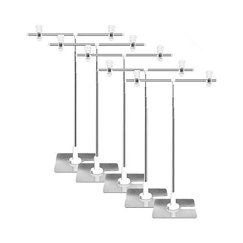 [adtools]POPスタンド ポップスタンド 販促用 長さ調節OK ポスタースタンド 簡単組み立て コンパクト イベント フリマ (5個セット) AAA