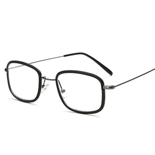 NXX Monturas De Gafas Sin Prescripción Ópticas De Metal De Moda Retro para Mujer Gafas De Bloqueo De Luz Azul,Degree Customization