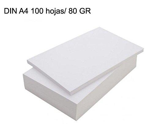 ¡¡ NOVEDAD !! Paquete folios 50 hojas blanca DIN A4/ 80GR Papel fotocopiadora impreso