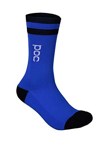 POC Essential Mid Length Sock calzetti, Blu (Azurite Multi Blue), S Unisex-Adulto