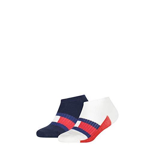 Tommy Hilfiger Boys Kids Sport Sneaker-Trainer (2 Pack) Socks, Tommy original, 35/38