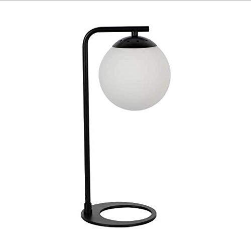 nakw88 Lámpara Escritorio Lámpara de Mesa LED Creativa posmoderna nórdica lámpara de Mesa de Hierro de Dormitorio de Personalidad de Moda de Cristal lámpara de Mesa de Hierro 16 * 39,5 cm