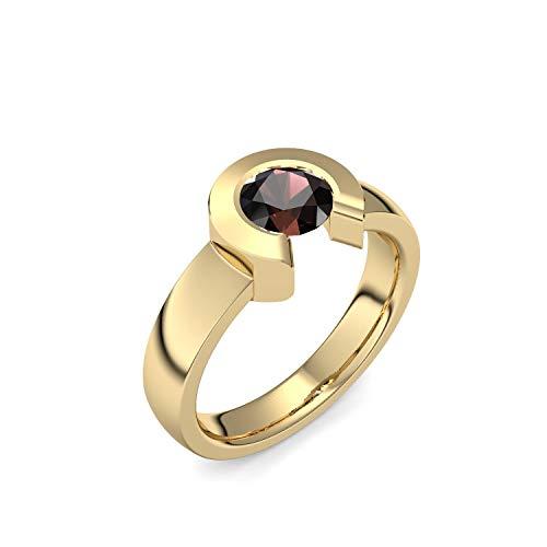 Goldring Granat 585 + inkl. Luxusetui + Granat Ring Gold Granatring Gold (Gelbgold 585) - Passionata Amoonic Schmuck Größe 54 (17.2) TS01 GG585GRFA54