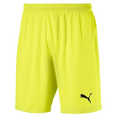 Puma Herren Liga Shorts Core, Fizzy Yellow Black, XL