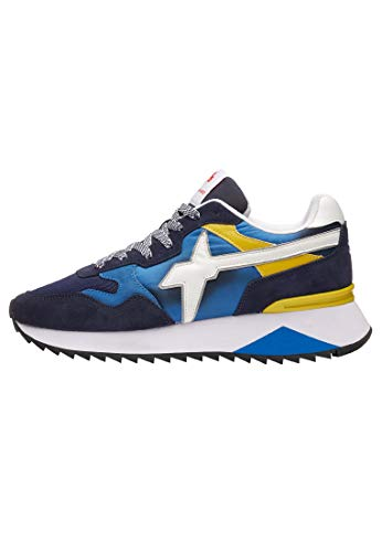 w6yz Yak-M.-Sneaker in Tessuto e Pelle-Blu Blu 45