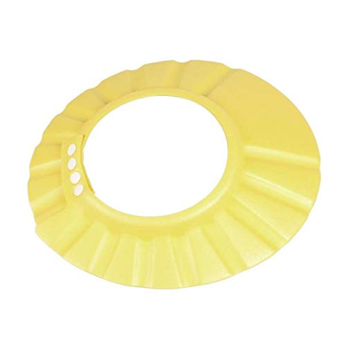 Wash Shield Shower Bathing Bath Protect Soft Cap Hat For Baby Child Adjustable Baby Kids Shampoo Cap Bath Shower Hat # 20, Yellow