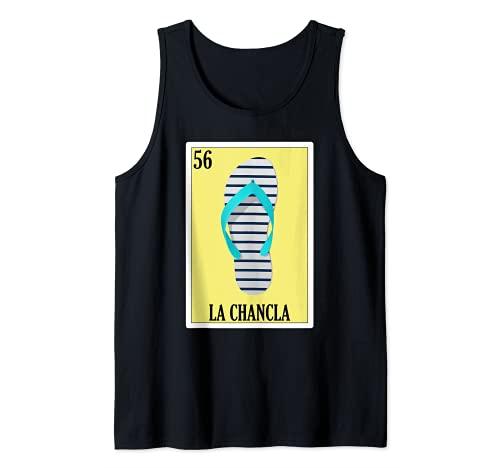 Lotería de Supervivientes Chancla Regalo - Lotería Mexicana La Chancla Camiseta sin Mangas