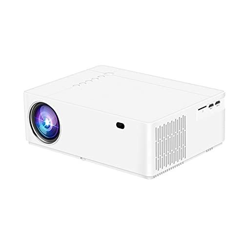 WUYANJUN Proyector de 1080p, proyector de películas al Aire Libre Completo HD, compatibilidad con Sync Screen Zoom, proyector de Video en el Cine en casa, Compatible con portátil/PC/DVD/TV ect