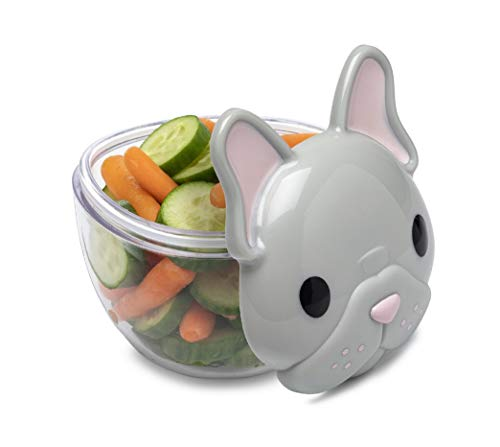melii Animal Snack Containers with lids (French Bulldog)