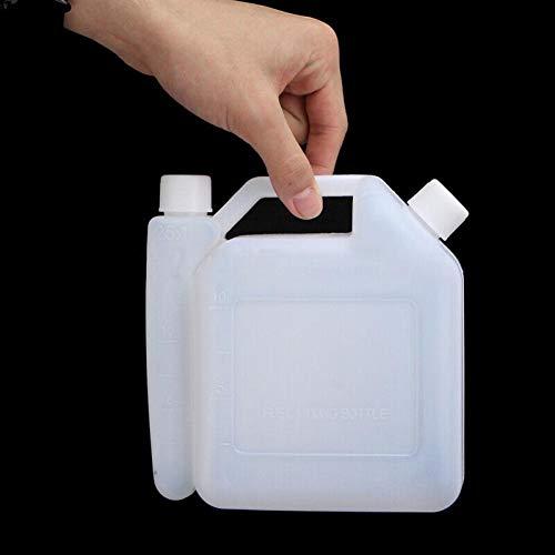 Zonfer 1l Öl Mischflasche Tank 1 Stroke Für Kettensägen Trimmer 01.25 50: 1 Für Kettensägen Rasenmäher Linie Strimmers