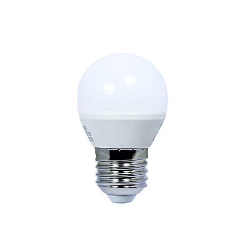 RLED 50-206-27-400 - Ampoule LED sphérique, 6 W, douille E27, lumière neutre, 4200° K (470 lm
