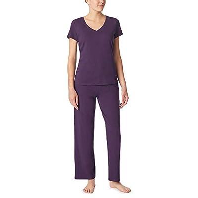 Nautica Women's V-Neck Sleep Top, 100% Cotton Jersey, Eggplant, L from Nautica