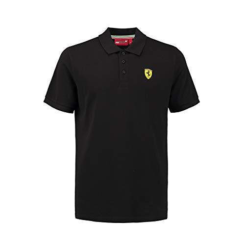 Scuderia Ferrari 2018 Herren-Poloshirt, klassischer Stil, Baumwoll-Piqué, Größen XS-XL