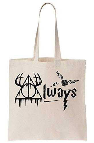 graphke Famous Motif Of Wizard School Canvas Tote Bag