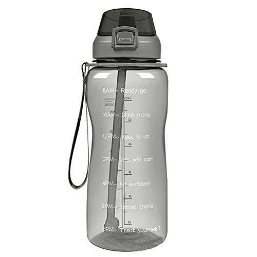 Jituan Copa de agua Gradiente creativo Deportes Taza de agua de gran capacidad Botella de deportes al aire libre Conveniente botella de agua de plástico (2200 ml)