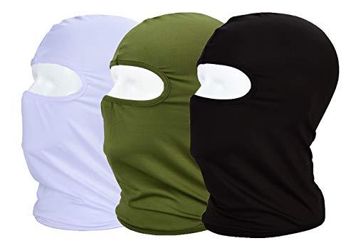 MAYOUTH Maschera Viso Estivo Passamontagna UV/Sole, Protezione Polvere Traspirante Ciclismo Sport Outdoor Full Face Mask Confezione da 3