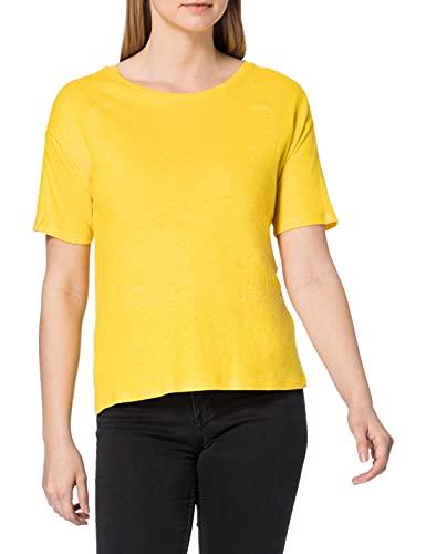 Desigual TS_Clementine Camiseta, Amarillo, M para Mujer