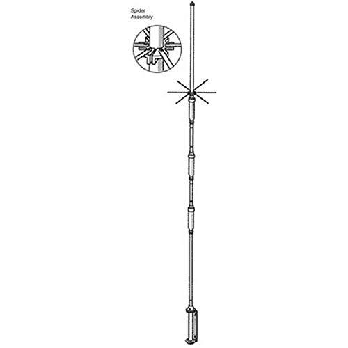 Hustler 4-BTV Vertical antenna, 10-40m, 22ft