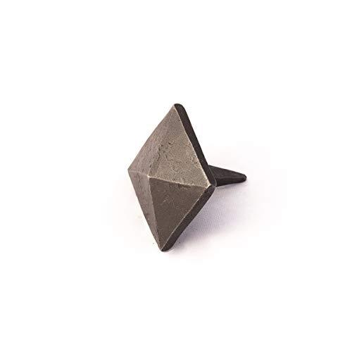 Antikas - Schmiede Nagel Möbel Ziernagel geschmiedet - 20mm Kopf viereckig Schmiedeeisen
