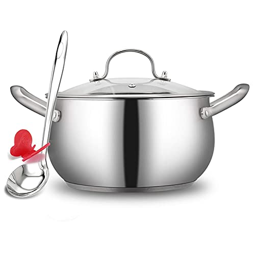 Olla de cocción al vapor, acero inoxidable 304, olla de sopa/olla caliente, hogar, 18/20/22/24 cm, apta para cocina de inducción/estufa de gas (tamaño: 24 cm)