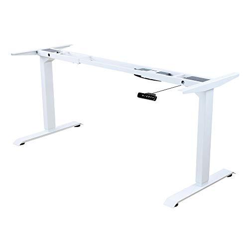 Albatros Schreibtisch-Gestell Lift, Weiss, 2X Motoren, elektrisch höhenverstellbar mit Memory-Funktion, Kollisionsschutz und Soft-Start/Stop
