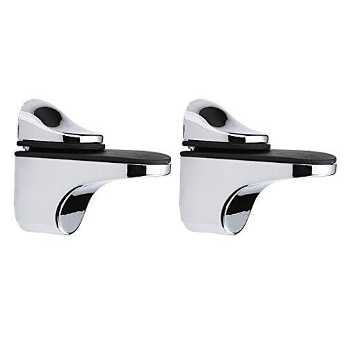 Republe 2pcs Ajustable 3-20mm de Madera Soporte de repisa de Montaje en...