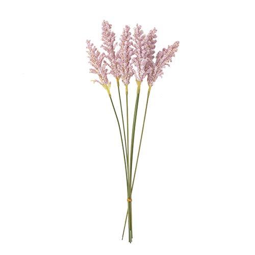 LACKINGONE - Paquete de hierbas secas de trigo seco para orejas de trigo natural y pequeñas pampas para centros de mesa de boda, decoración de fotografía (púrpura)