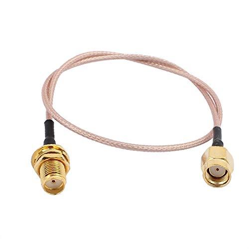 X-DREE Gold SMA Macho a RP-SMA Adaptador Macho Conector RG178 Cable Coaxial para Televisión Satelital 15CM (Câble adaptateur SGA mâle à connecteur RP-SMA mâle RG178 pour la télévision par satellite 15