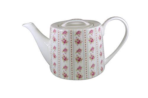 Jameson & Tailor Retro Teekanne Kaffeekanne Blumensträuße Biedermeyer-Stil Brillant-Porzellan 1000ml Füllmenge