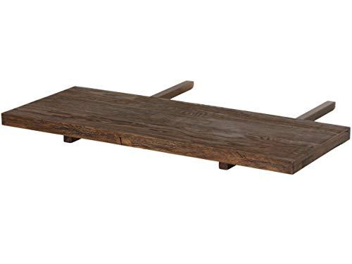 Loft24 Marian Ansteckplatte für Esstisch Tischverlängerung Esszimmertisch Küchentisch Massivholz Wildeiche Dunkelbraun (Smoked, Ansteckplatte 40x100 cm)