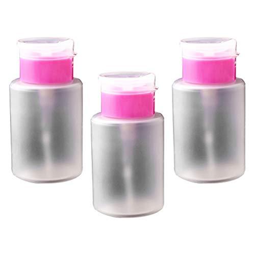 Mobestech 3 Pcs Pompe à Pompe Vers Le Bas Bouteille Distributeur de Vernis à Ongles Liquide Bouteille pour Démaquillant pour Les Yeux à Lèvres 150 Ml