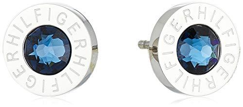 Tommy Hilfiger 2700260 - Pendientes de acero inoxidable con circonita