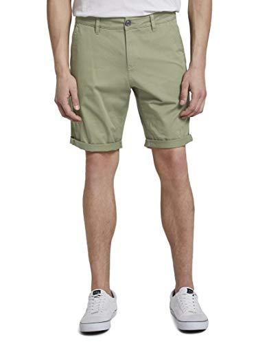 TOM TAILOR Denim Herren Slim Chino Shorts, 18938-greyish Green, L
